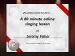 Lesson Voucher 60 minutes Jeremy Fisher